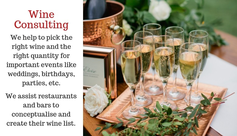 Wine Consulting in Singapore: wine for weddings, restaurants, events