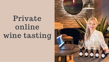 Private online wine tasting